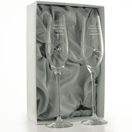 6b41462651b Engraved Champagne Glasses and Flutes – Personalised Champagne Glass ...