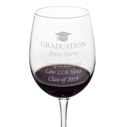 a52ed87b66ec ... Personalised Wine Glass - Graduation