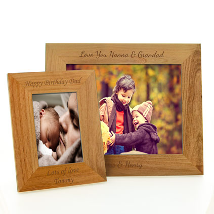 personalised engraved maple photo frame