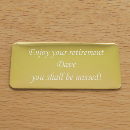 Personalised Self-Adhesive Plaque