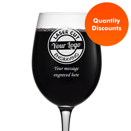 Logo Engraved Personalised Red Wine Glass