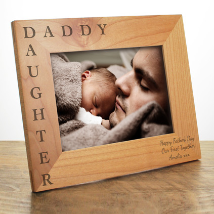 Personalised Daddy & Daughter Photo Frame