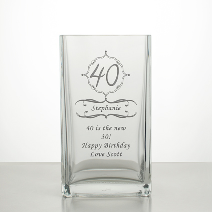Bodenvase Glas personalised vases and engraved vases by keep it personal