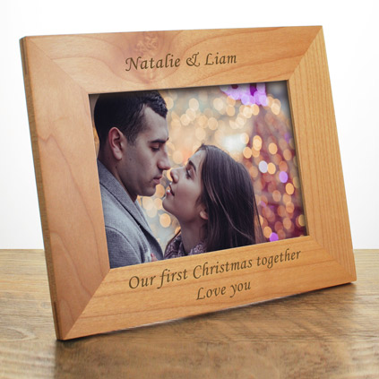 personalised engraved wooden frame 6 x 4 - Engraved Photo Frame