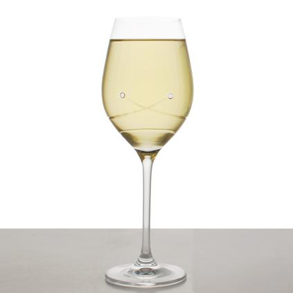 Personalised crystal wine glass with swarovski elements - Swarovski stemware ...