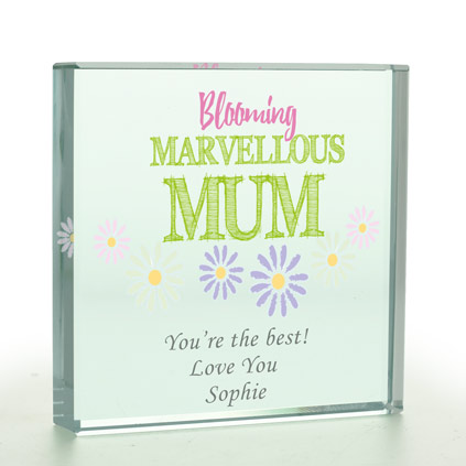 Personalised Bloomin' Marvellous Glass Token