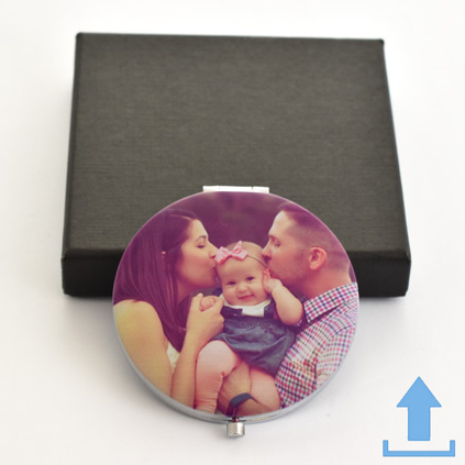 Photo Upload Compact Mirror