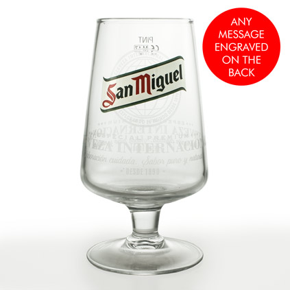 Personalised San Miguel Pint Glass