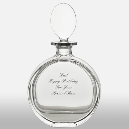 Personalised Oval Glass Decanter