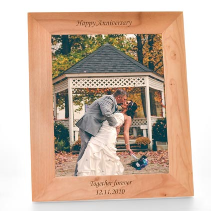 Personalised 10x8 Wooden Photo Frame Any Occasion