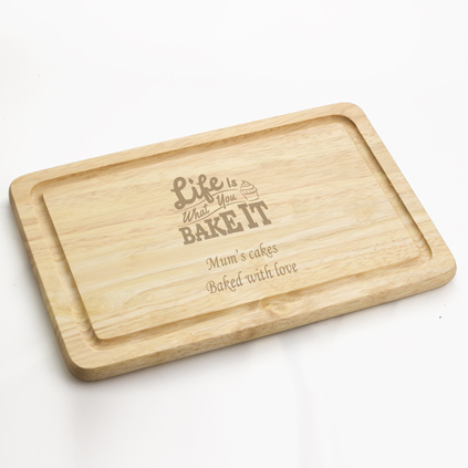Personalised Life Is What You Bake It Chopping Board