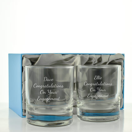 Personalised Whisky Glass Set