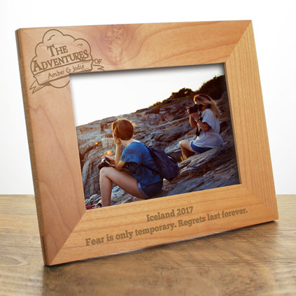 Personalised Photo Frame - The Adventures Of