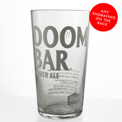 Personalised Doom Bar Ale Pint Glass