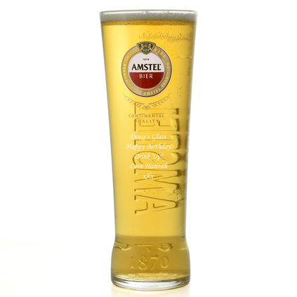 Personalised Amstel Pint Glass