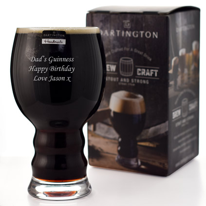 Personalised Dartington Brew Craft Stout Glass