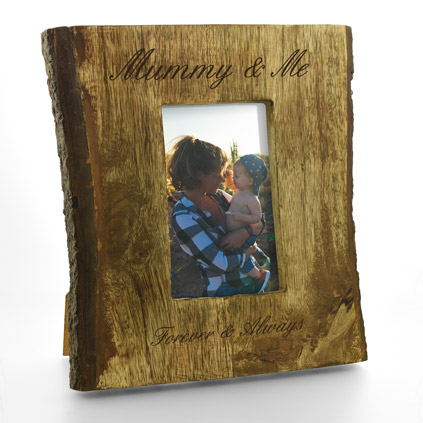 "Personalised Rustic 6 x 4"" Photo Frame"