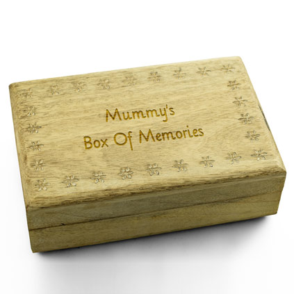 Personalised Wooden Flower Keepsake Box