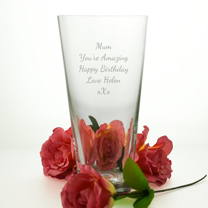 Personalised Classic Conical Vase
