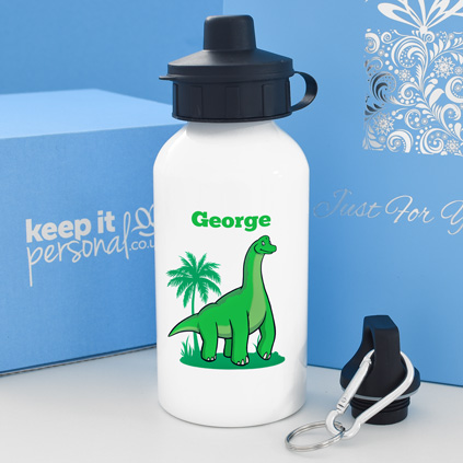 Personalised Brachiosaurus Water Bottle 400ml Any Name