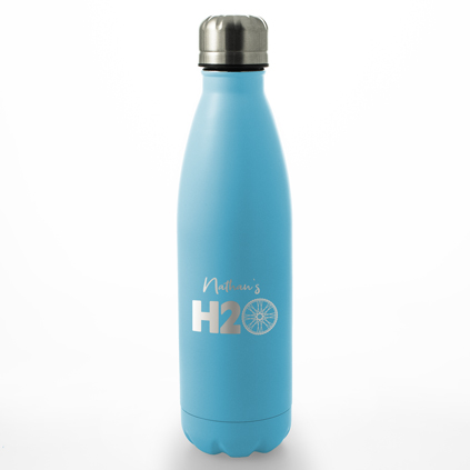 Personalised H20 Water Bottle 500ml - Any Colour Any Name