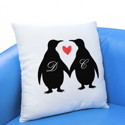 Personalised Cushion - Penguin Initials