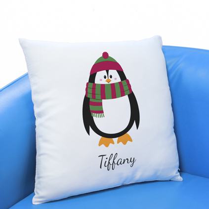 Personalised Cushion - Penguin