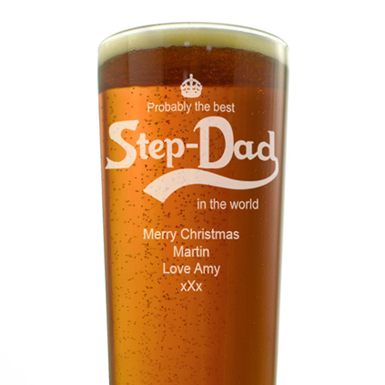 Personalised Pint Glass - Best Step Dad In the World