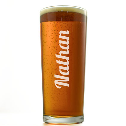 Personalised Any Name Straight Pint Glass
