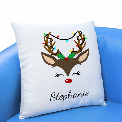 Personalised Cushion - Reindeer