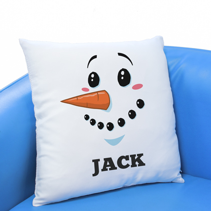 Personalised Cushion - Snowman