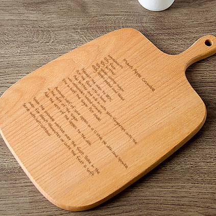Personalised Handled Chopping Board - Handwritten Recipe