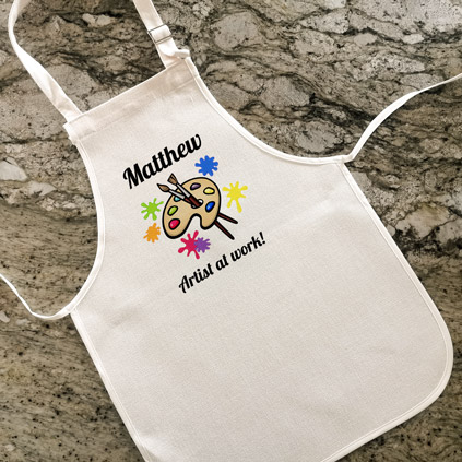 Personalised Child's Apron - Artist At Work