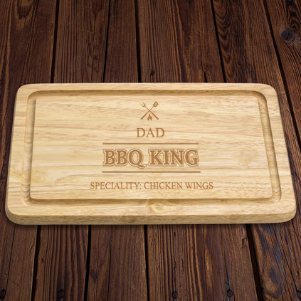 Personalised BBQ King Wooden Chopping Board