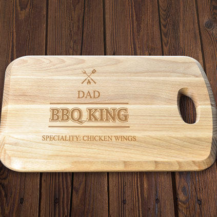 Personalised BBQ King Beech Wood Chopping Board