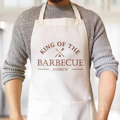 Personalised Apron - King Of The BBQ