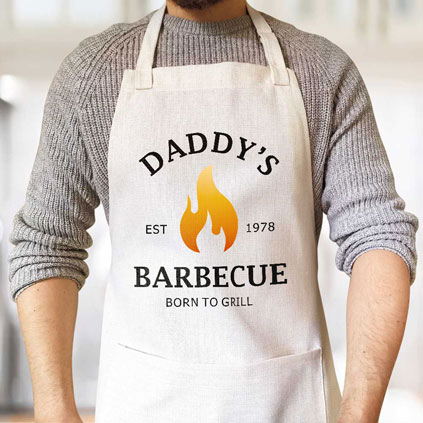 Personalised Apron - Daddy's BBQ
