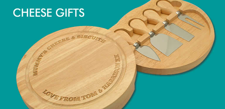 Personalised Cheese Boards And Wine And Cheese Gifts