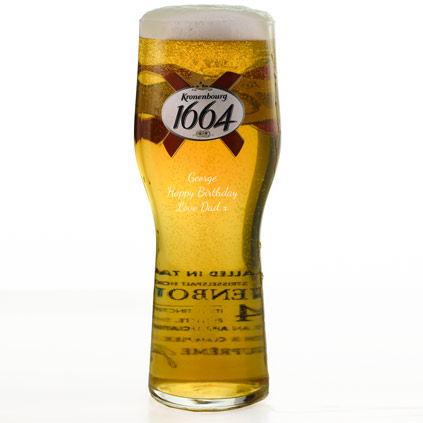 Personalised Kronenbourg Pint Glass