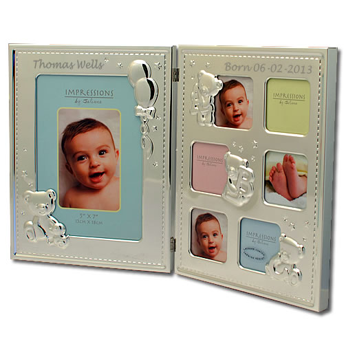 Engraved Baby Collage Photo Frame