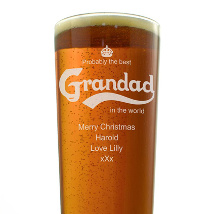 Personalised Pint Glass - Best Grandad In the World