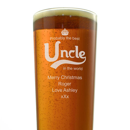 Personalised Pint Glass - Best Uncle In the World