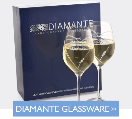 Diamante Glassware With Swarovski Elements