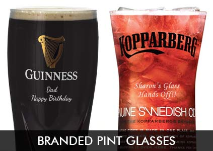 Personalised Branded Pint Glasses