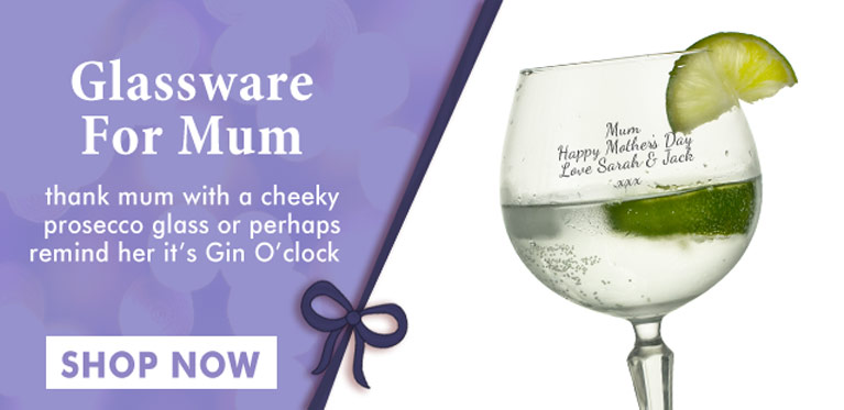 Personalised Glassware For Mum