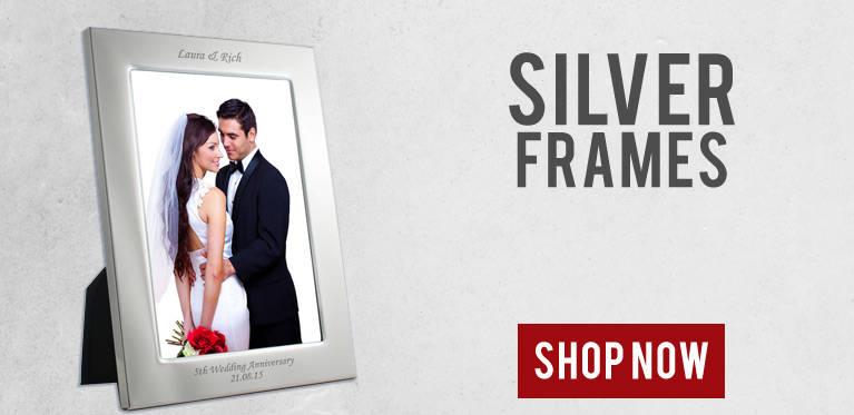 Personalised Silver Photo Frames