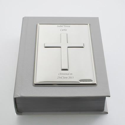 Personalised Sterling Silver Bible