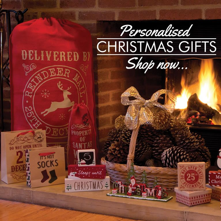 Personalised Christmas Gifts, Baubles, Sacks And More.