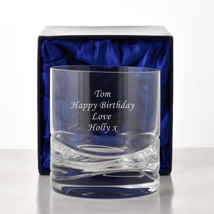 Personalised Whisky Glass - Wave Cut