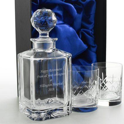 Personalised Whiskey Decanter Set - Whiskey Gift